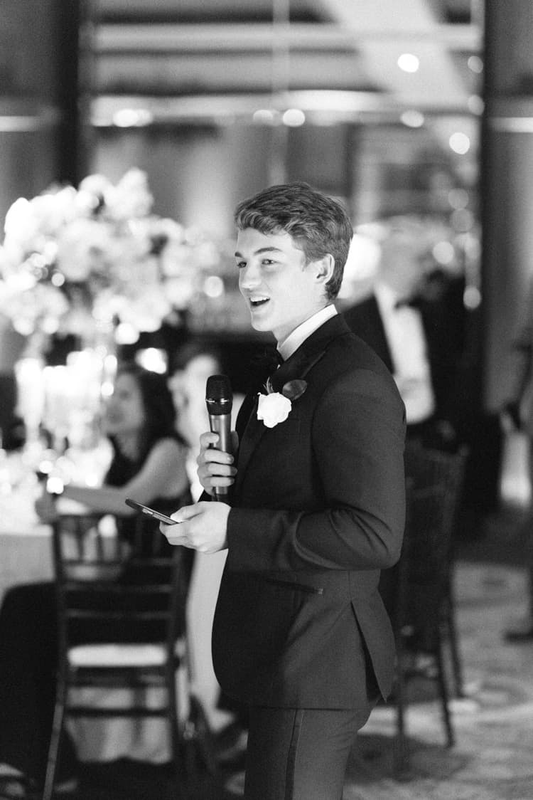 Wedding reception speeches at the Four Seasons Vail