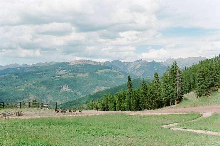 Mountain range views from 10th in Vail