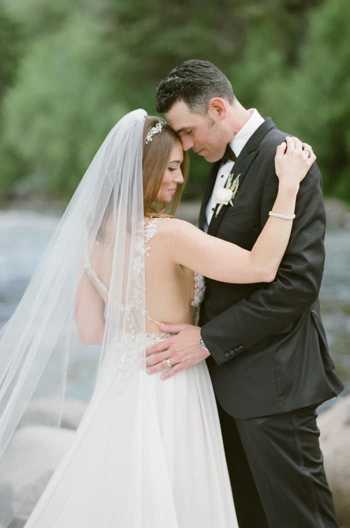 Bride And Groom At The Westin Riverfront And Spa In Beaver Creek With Calluna Events