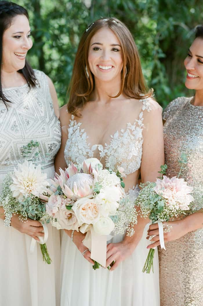 Bridal Party With Bouquets At The Westin Riverfront And Spa In Beaver Creek With Calluna Events