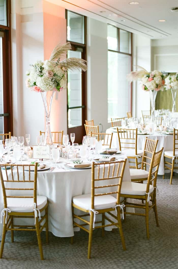 Wedding Reception Room At Jewish Wedding At The Westin Riverfront And Spa In Beaver Creek With Calluna Events