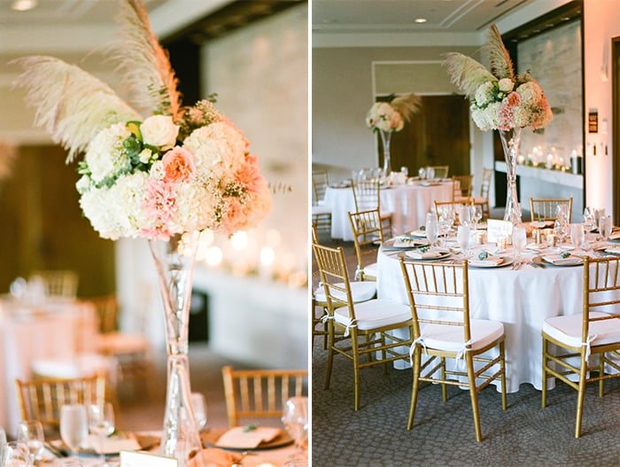 Wedding Reception Details At Jewish Wedding At The Westin Riverfront And Spa In Beaver Creek With Calluna Events
