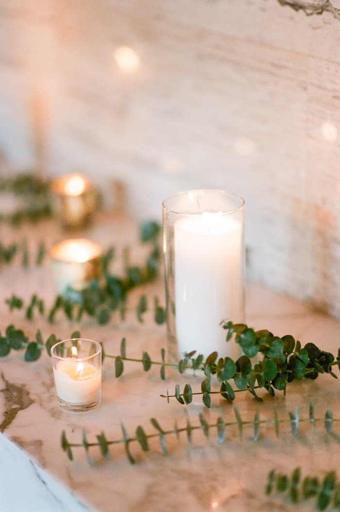 Candles At Jewish Wedding At The Westin Riverfront And Spa In Beaver Creek With Calluna Events