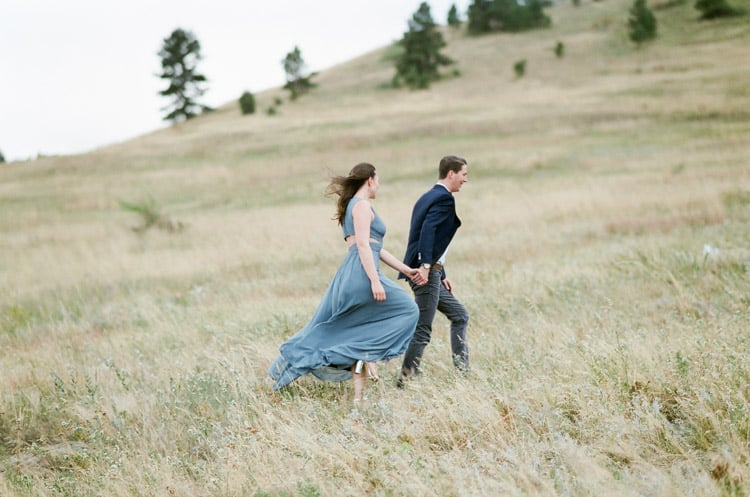 Bride And Groom Walking In Boulder Planned By Cloud9 Bliss