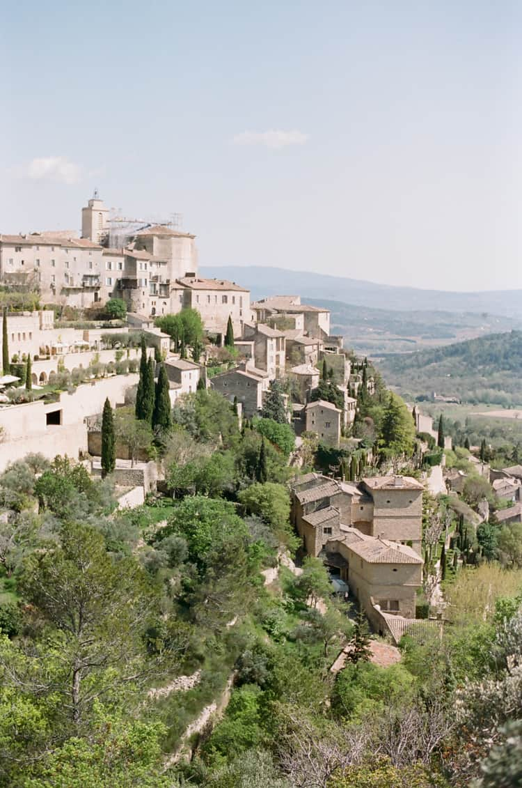 Areal view of Gordes in Provence