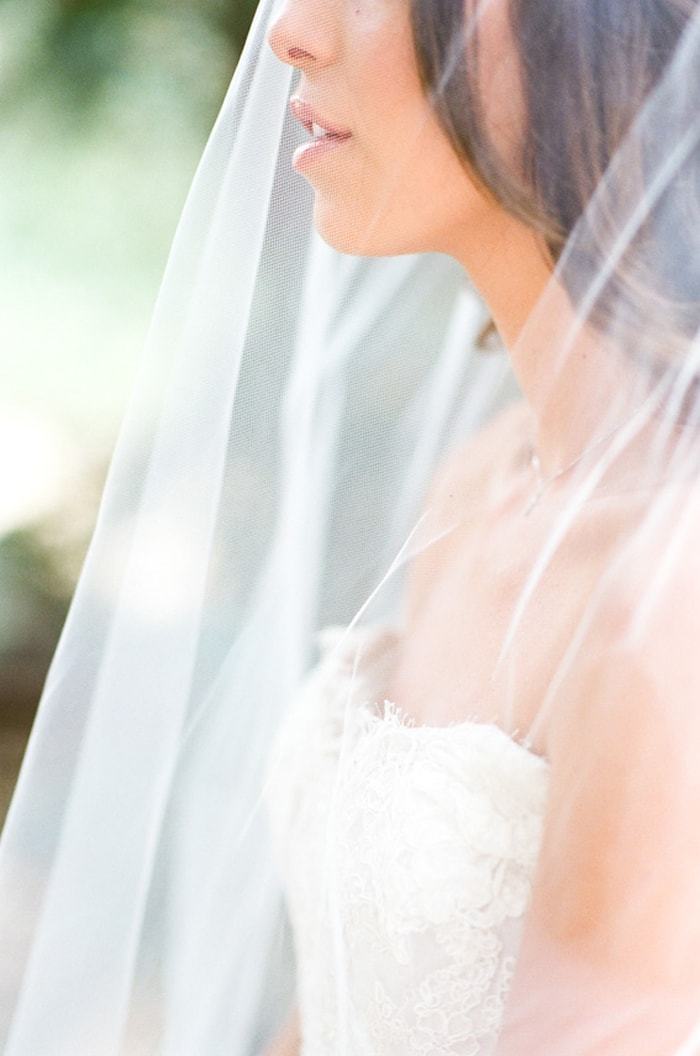 Veil covering bride during Telluride elopement