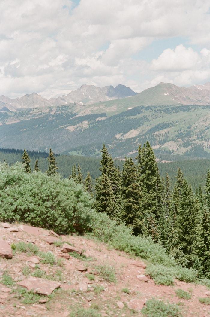 Distant Mountain range of Vail, Colorado