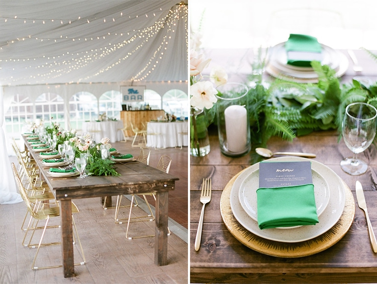 Rustic table and place setting at Camp Hale in Vail