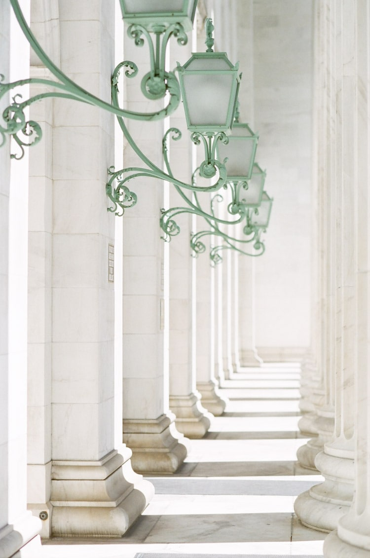 Columns of the Denver courthouse