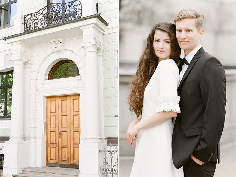 City engagement portraits in Munich