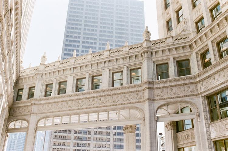 Chicago Riverwalk Wrigley Building skyway