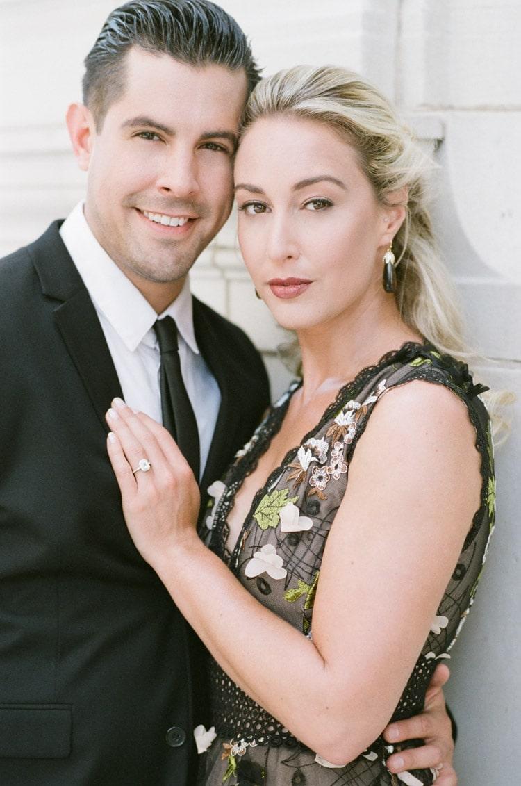 Tight medium portrait shot of couple