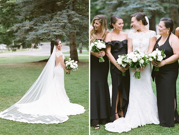 Bridal session with bride and bridesmaids