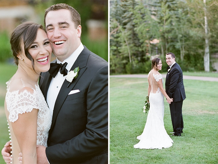Wedding portraits during summer in Vail, Colorado
