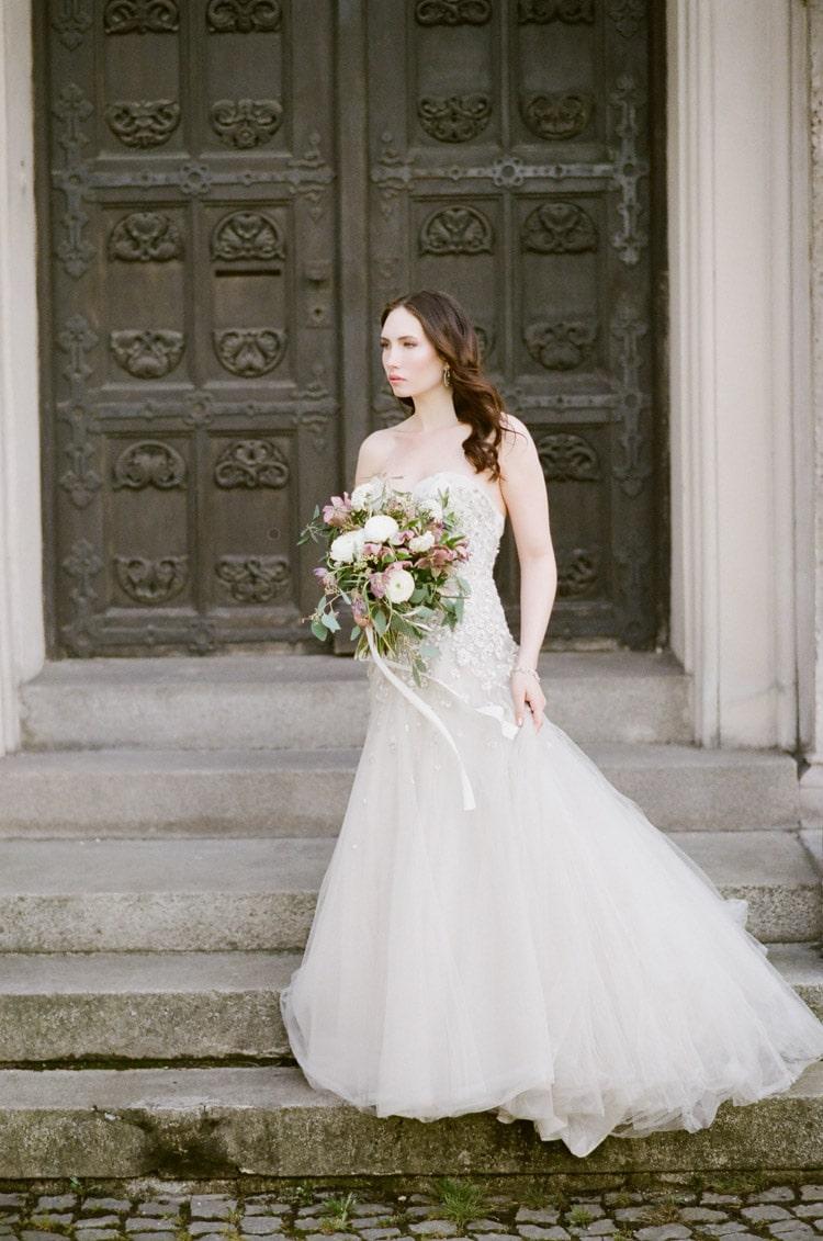 Bridal portrait in Munich Germany