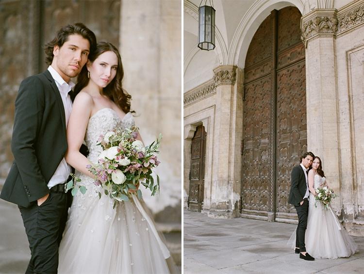 Romantic wedding portrait of a couple in Munich