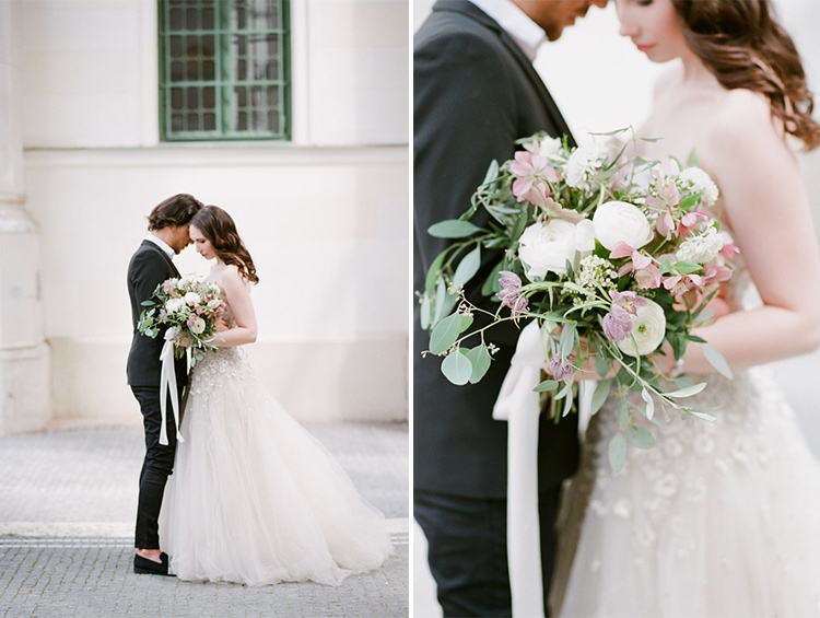 Sophisticated wedding portraits at an intimate elopement in Munich Germany