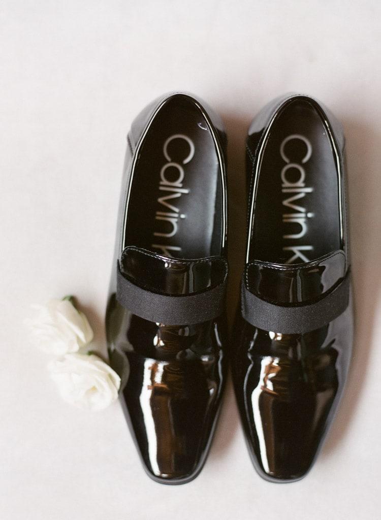 Man's black formal Calvin Klien shoes