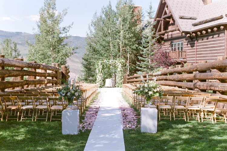 Styled Wedding Ceremony location