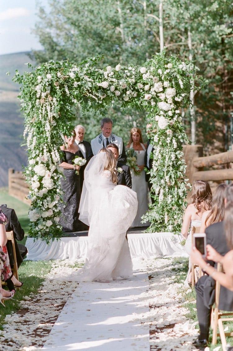 Wedding procession of bride