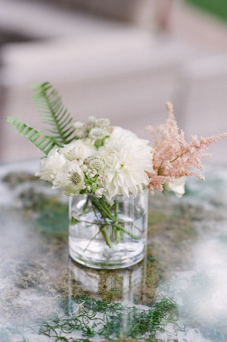 Styled flowers in vase