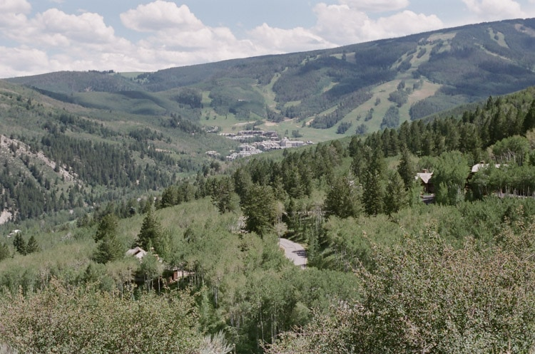 Scenic view of Bachelor Gulch in Colorado