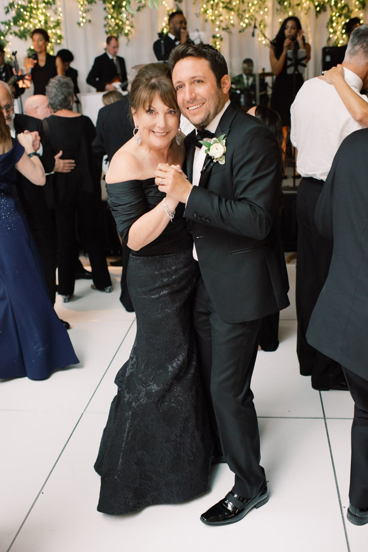 Wedding dance groom with mother