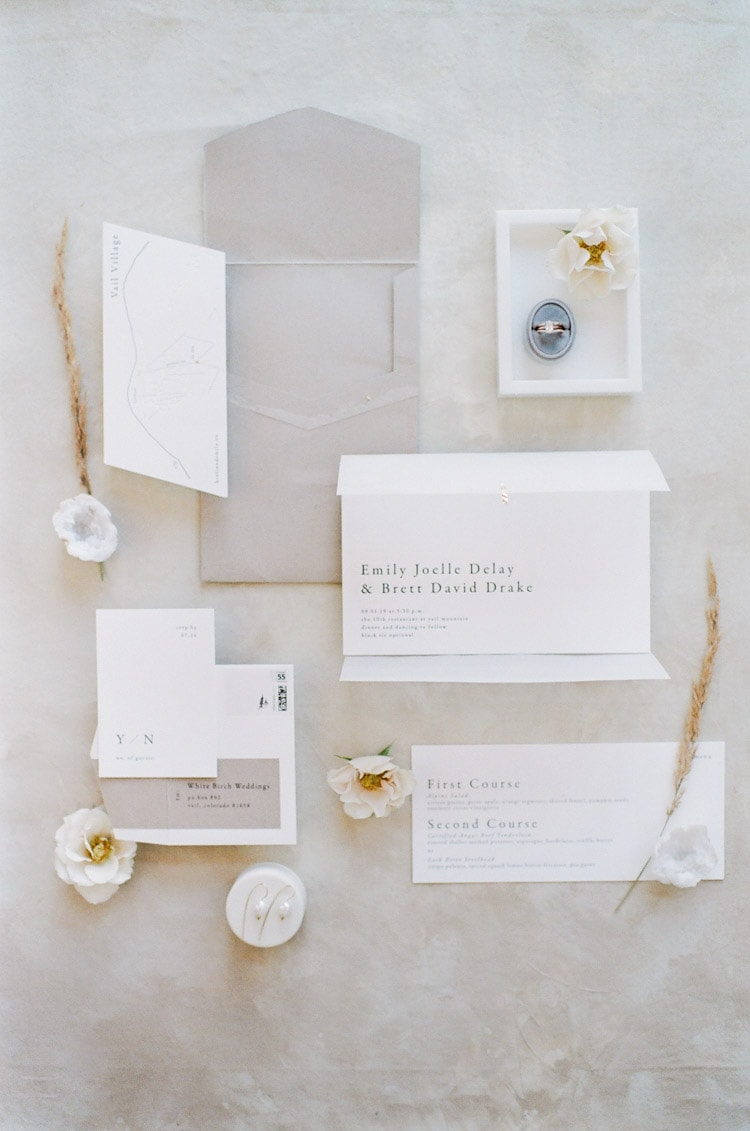 Stylized Custom Wedding Invitation Suite Stationery