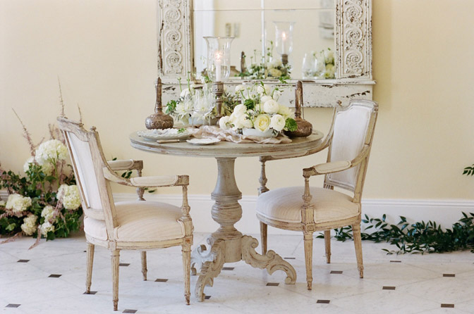 Styled shot of table with decorations