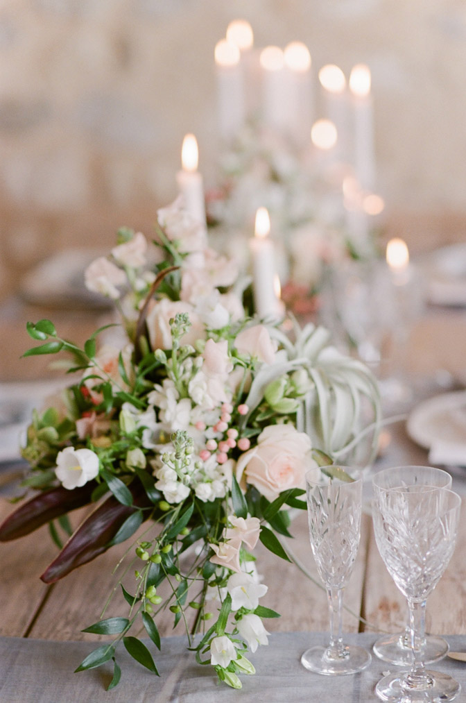 Floral centerpiece at table
