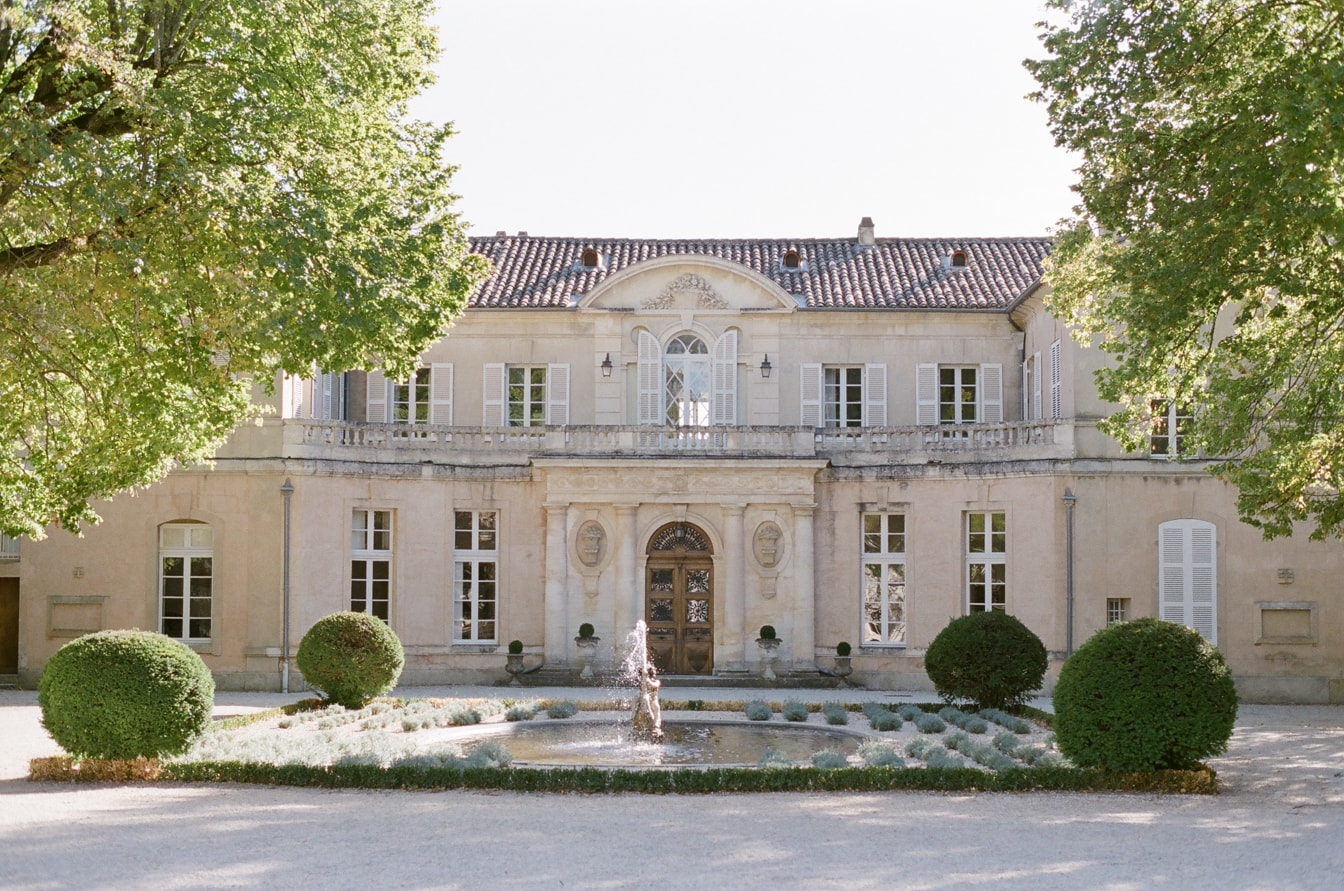 Exterior of Chateau Martinay in the Provence region of France