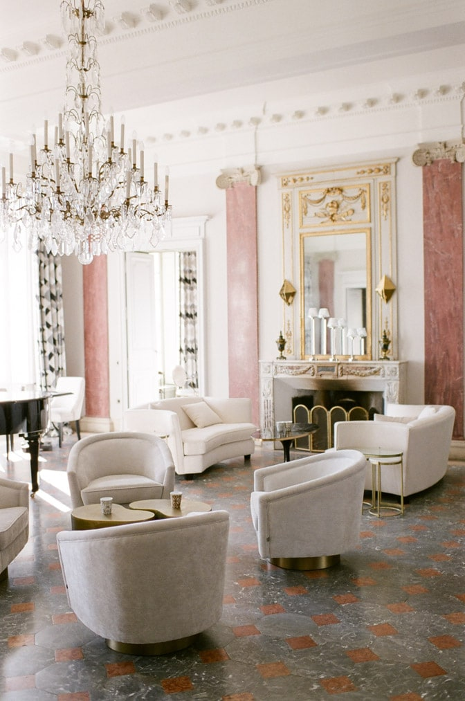 Stylish and elegant interior of Château Martinay