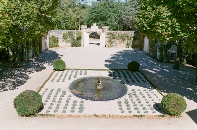 Courtyard at Château Martinay in Provence
