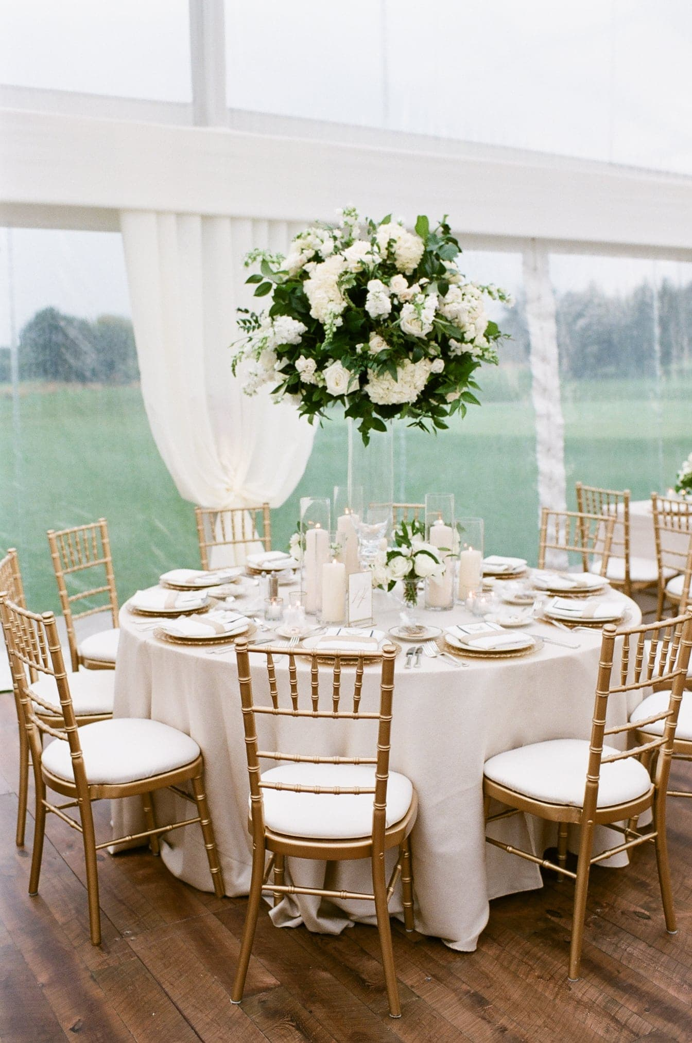 Coordinated table setup and floral design by The Creative Planners