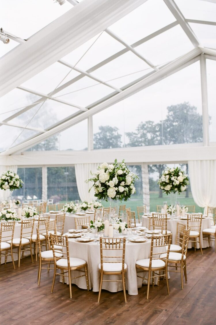 Tent style wedding planned and coordinated by The Creative Planners