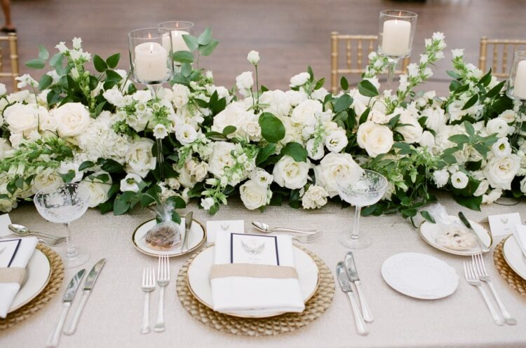 Floral table runner by Life in Bloom