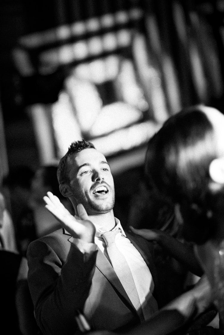 Wedding guest dancing at Vail wedding