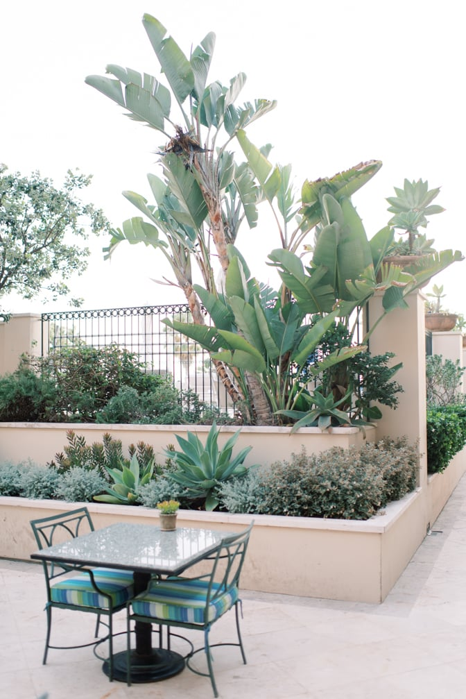 Terrace of Casa del Mar in Santa Monica, California