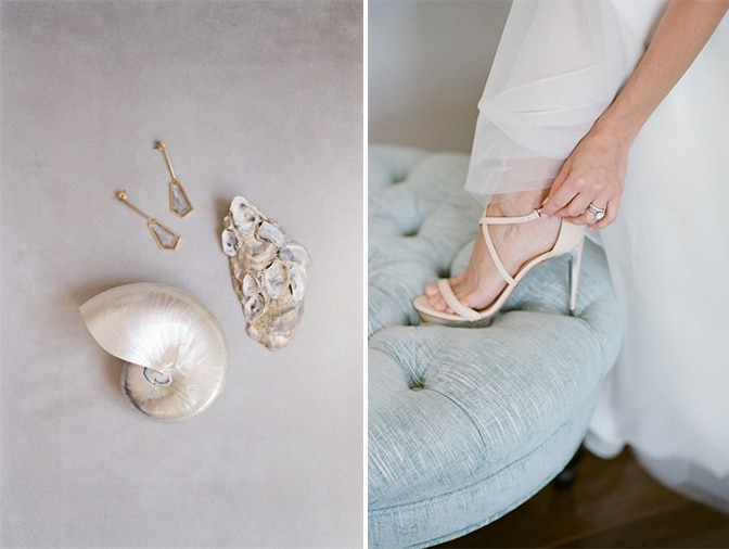 Bridal details at Casa del Mar in Santa Monica, California