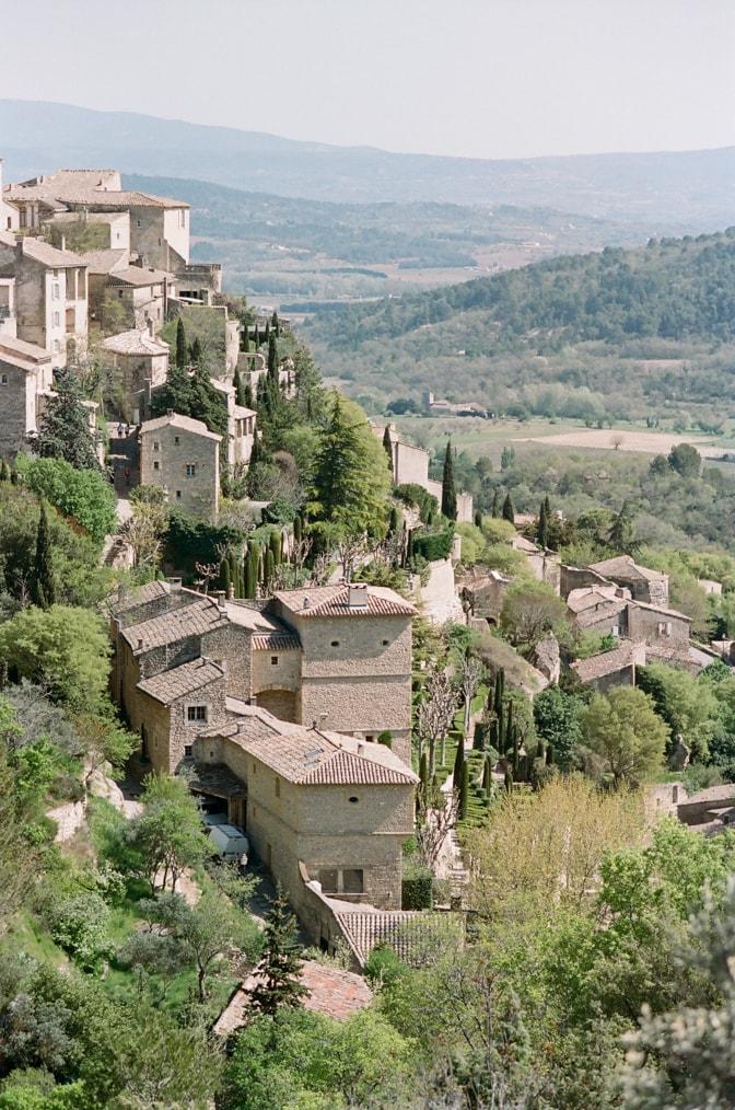 Provencal village Gordes photographed by luxury destination wedding photographer Tamara Gruner