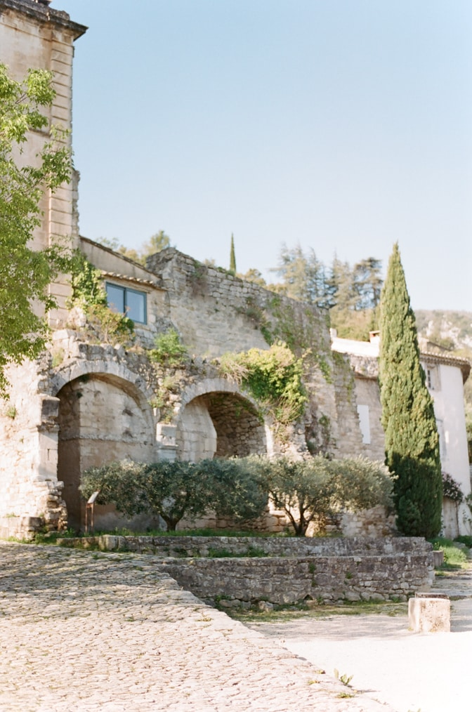Ruins of Oppède le Vieux in Provence, France