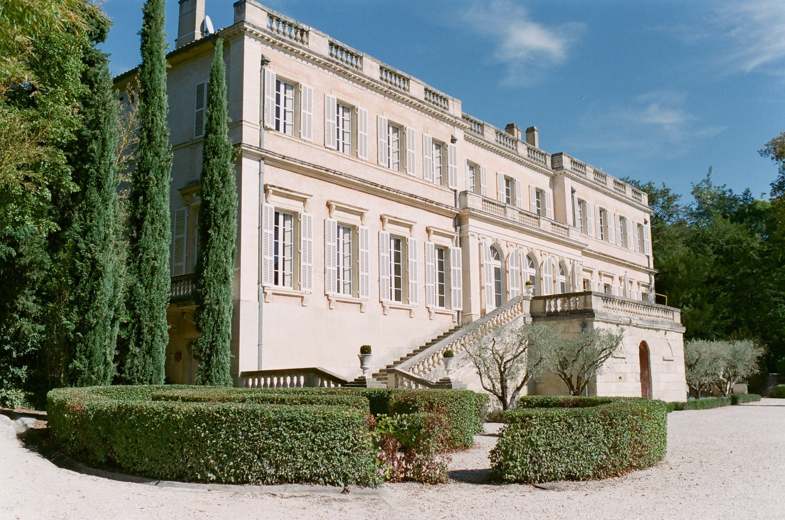 Back facade of Chateau Martinay in Provence