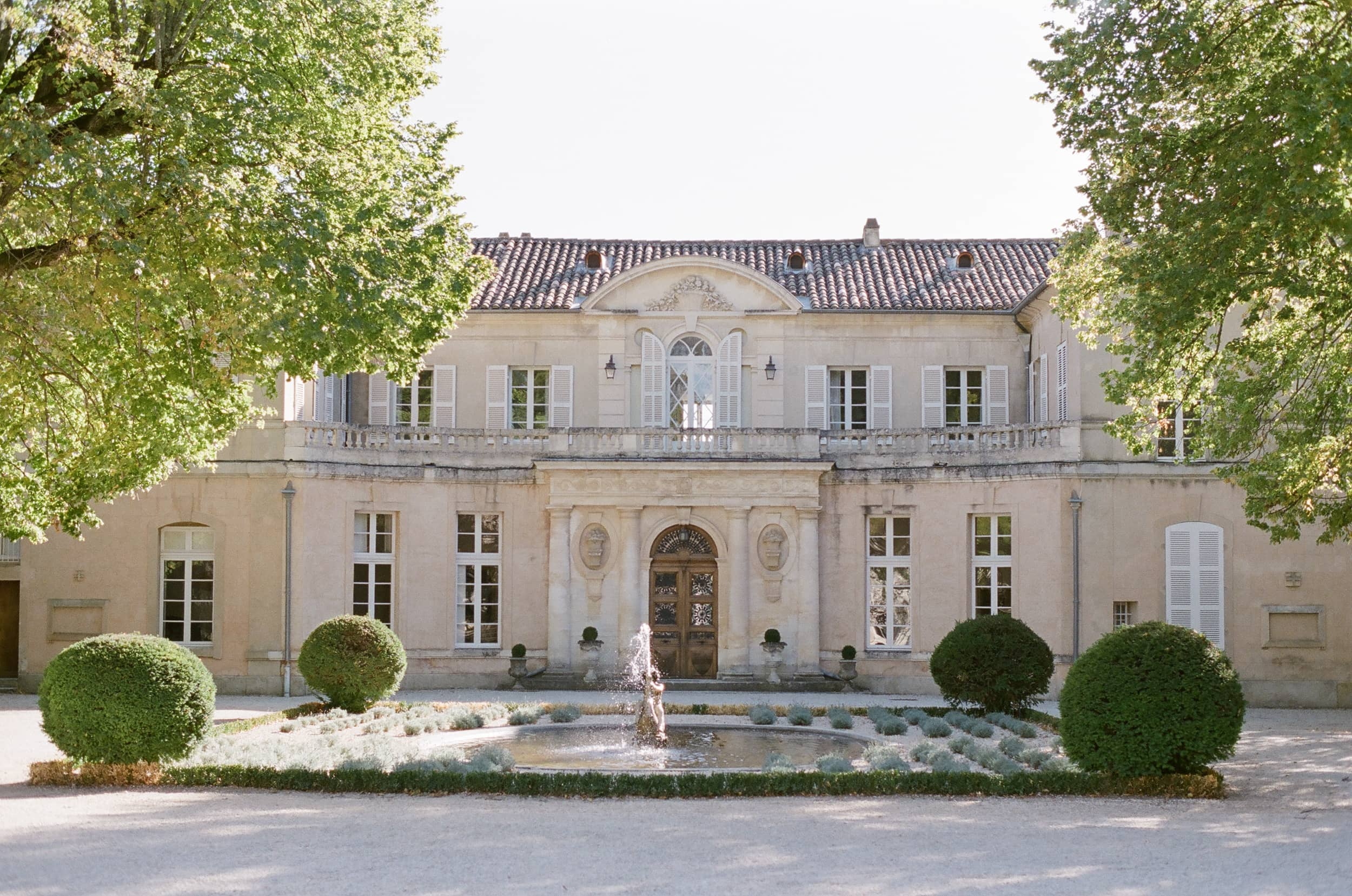 Front facade of Chateau Martinay in Provence