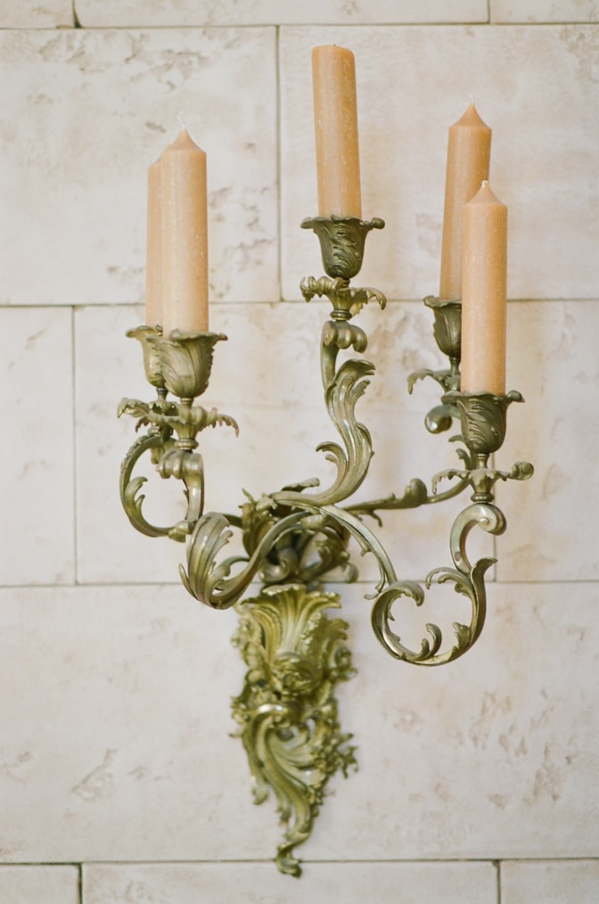 French Inspired candle holder at Castle Cliff Estate