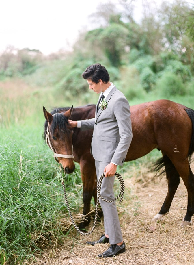 A style guide for the modern groom wearing no socks on his wedding day