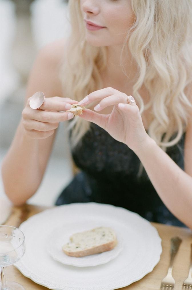 Closeup of engagement ring