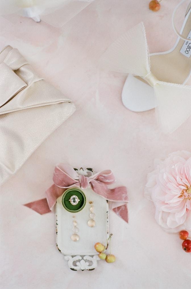 Closeup of luxury designer engagement ring by Michaela Roemer