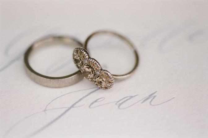 Unique luxury vintage designer engagement ring by Michaela Roemer