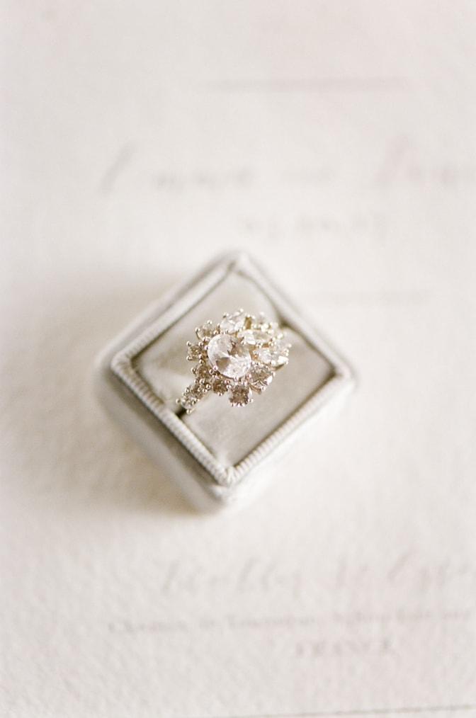 Luxury designer engagement ring by Susie Saltzman in a Mrs Box