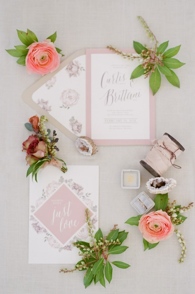 Luxury wedding invitation photographed by luxury destination wedding photographer Tamara Gruner